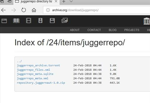 manual and download juggernaut repo step 1