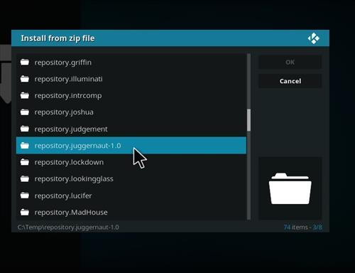 manual and download juggernaut repo step 5