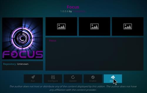 How to Install Focus Kodi Add-on with Screenshots step 18
