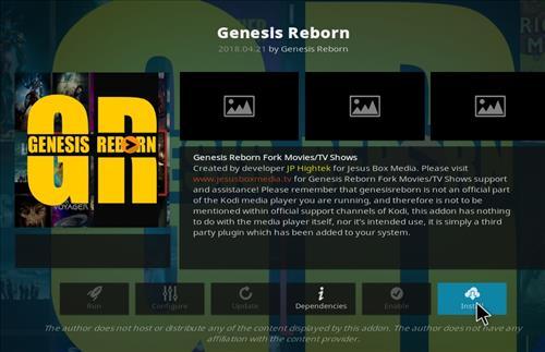 How to Install Genesis Reborn Add-on Kodi 18 Leia step 18