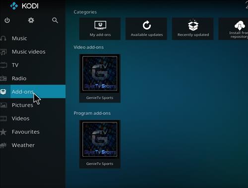 How to Install GenieTV Sports Kodi Add-on with Screenshots step 8