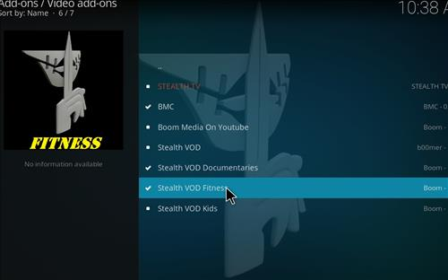 How to Install Stealth VOD Fitness Kodi Add-on with Screenshots step 17