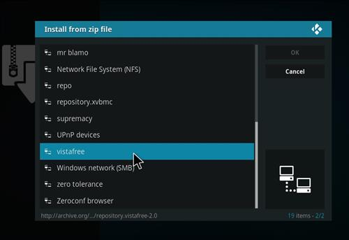 How to Install VistaTV Heaven Kodi Add-on with Screenshots step 11