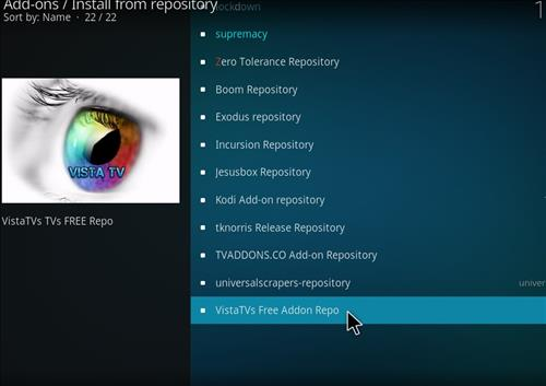 How to Install VistaTV Heaven Kodi Add-on with Screenshots step 15
