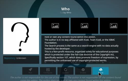 How to Install WHO Kodi Add-on with Screenshots step 24