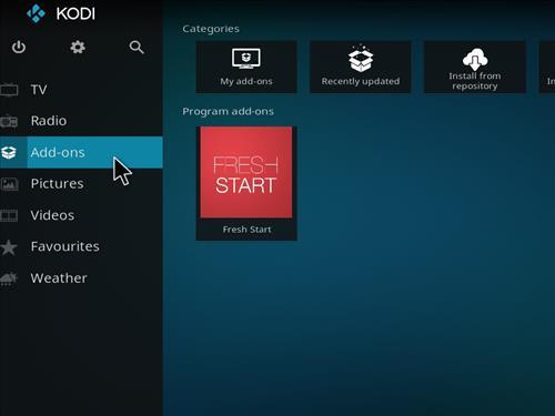 How to Wipe Kodi, Remove A Build, Clear Settings Fresh Start the Kodi step 14