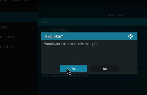 How to change the Skin back to Default Estuary Continuum step 5