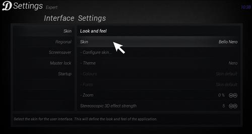 How to change the skin to Default Estuary step 3