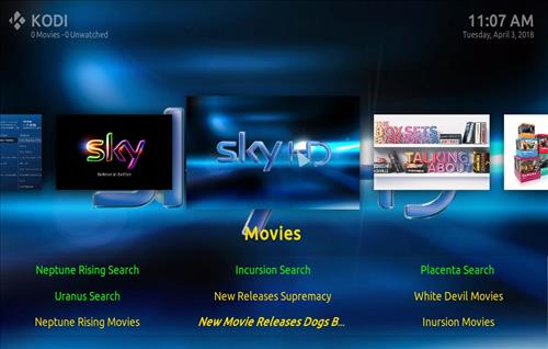 How top Install The Sky Kodi Build with Screenshots pic 1