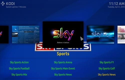 How top Install The Sky Kodi Build with Screenshots step 22