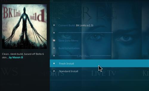 how to install Bk links kodi build with screenshots step 18