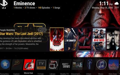 Best Kodi Build Eminence pic 1