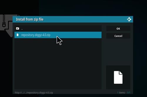 How to Install Diggz Xenon Kodi 18 Leia Build step 13