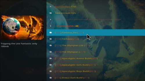 How to Install Fantasia Kodi Build with Screenshots step 22