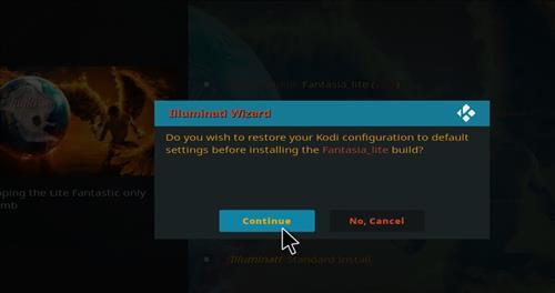 How to Install Fantasia Kodi Build with Screenshots step 24