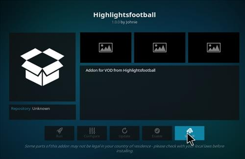 How to Install Highlights Football Kodi Add-on with Screenshots step 18