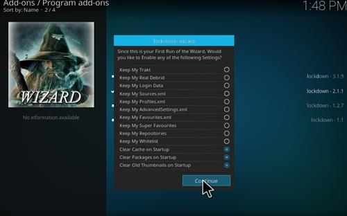 how to remove build from kodi