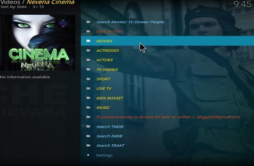 How to Install Nevena Cinema Kodi Add-on with Screenshots pic 2