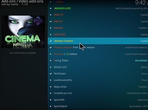 How to Install Nevena Cinema Kodi Add-on with Screenshots step 17