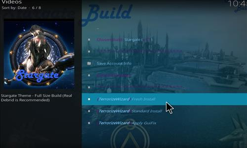 How to Install Stargate Kodi Build with Screenshots step 24