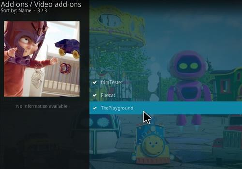 How to Install The Playground Kodi Add-on with Screenshots step 17