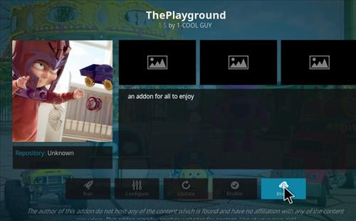 How to Install The Playground Kodi Add-on with Screenshots step 18