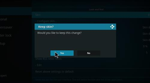 How to change the Skin back to Default Estuary Bk blue build step 5