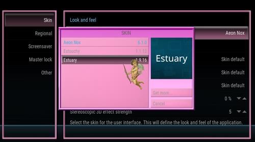 How to change the Skin back to Default Estuary fantasia lite step 4