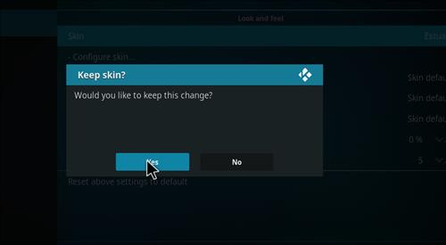 How to change the Skin back to Default Estuary fantasia lite step 5
