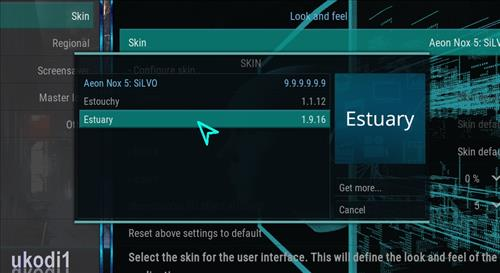 How to change the Skin back to Default Estuary futuristics step 4