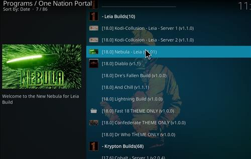 how to install nebula kodi build leia 18 step 22