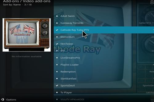 How to Install Cathode Ray Tube IPTV Kodi Add-on step 17