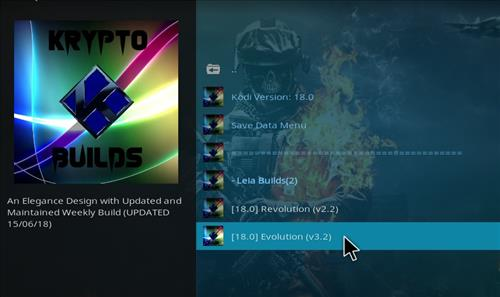 How to Install Evolution Kodi Build Leia 18 step 17