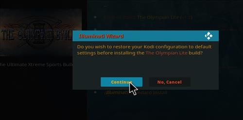 How to Install Olympian Lite Kodi Build with Screenshots step 24