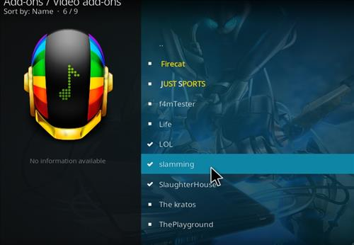 How to Install Slamming Kodi Add-on with Screenshots step 17