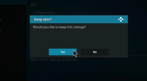How to change the Skin back to Default Estuary Phenomenal step 5