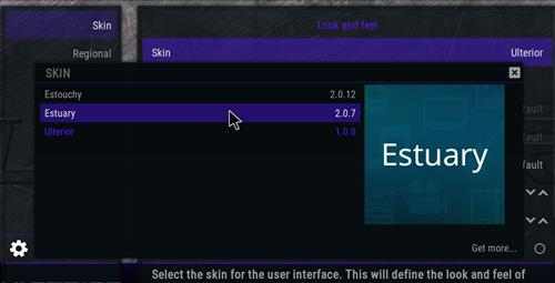 How to change the Skin back to Default Estuary ulterior step 4