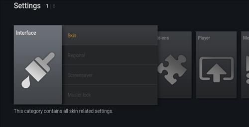 How to change the Skin back to Default Estuary ultimate fire tv step 3