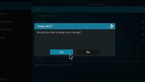 How to change the Skin back to Default Estuary ultimate fire tv step 5