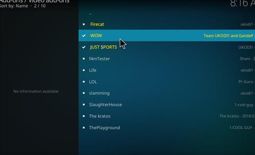 How top Install WOW Kodi Add-on with Screenshots step 17