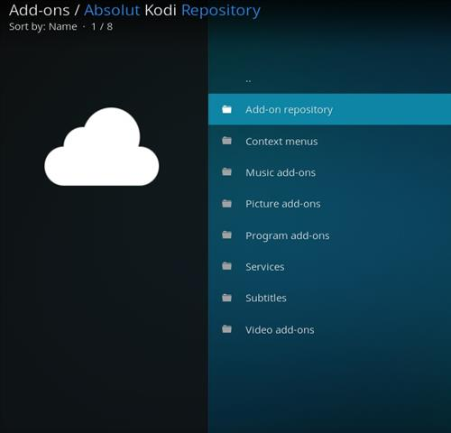 How to Install Absolut Kodi Repository with Screenshots pic 2