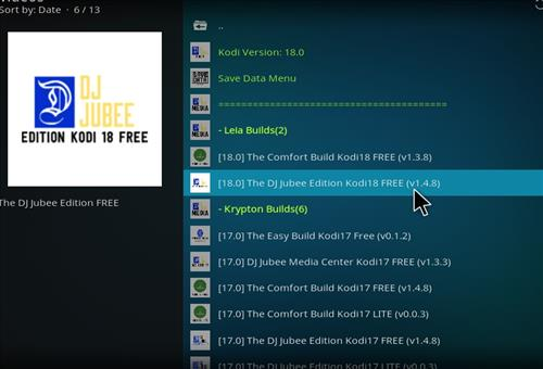 How to Install Dj Jubee Edition Kodi 18 Leia Build step 17