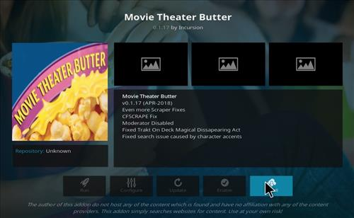 How to Install Movie Theater Butter Kodi Add-on with Screenshots step 19