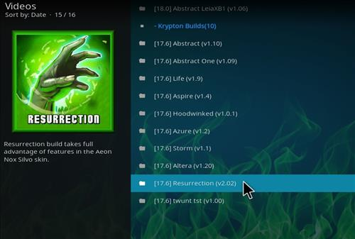 How to Install Resurrection Kodi Build with Screenshots step 16