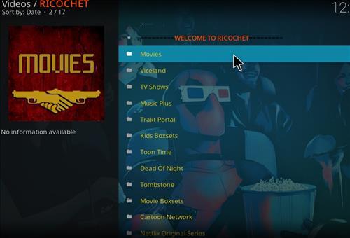 How to Install Ricochet Kodi Add-on with Screenshots pic 2