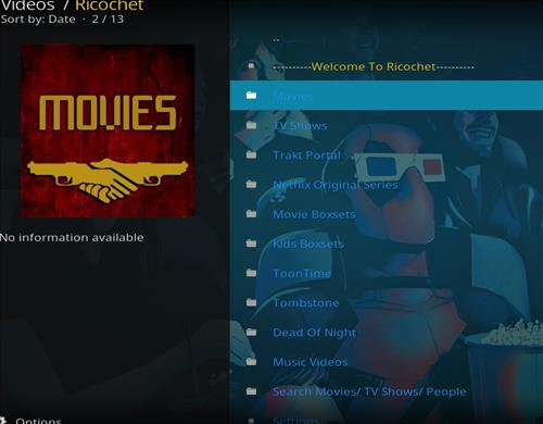 How to Install Ricochet Kodi Add-on with Screenshots pic 2