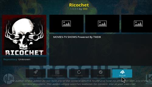 How to Install Ricochet Kodi Add-on with Screenshots step 18