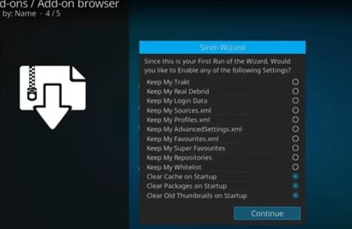 How to Install Sirens Kodi Build with Screenshots step 15