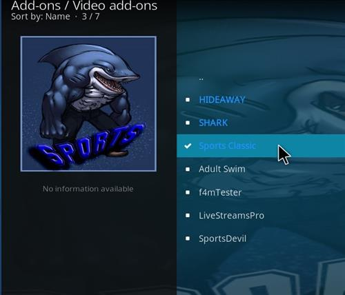 How to Install Sports Classic Kodi Add-on with Screenshots step 18