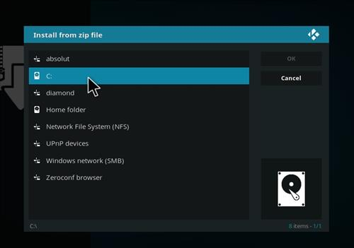 manual and download absolut kodi repo step 4